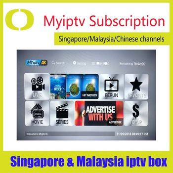 Myiptv Myiptv4K TV Box z androidem dla singapuru malezja Australia nowa zelandia indonezja globalne wykorzystanie tanie i dobre opinie ZOMU 100 M Amlogic S905W Quad-core 64-bit 16 GB eMMC HDMI 2 0 Quad-core Mali-450 2G DDR3 H96 mini 0 5KG DC 5 V 2A Karty TF Do 64 GB