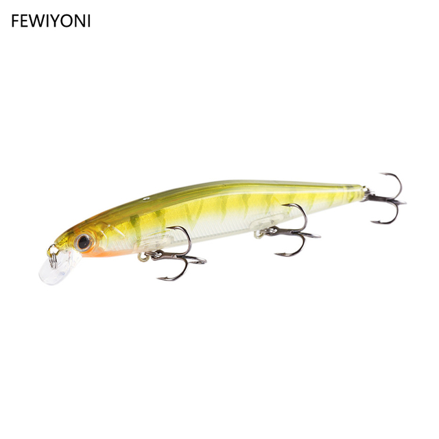 FEWIYONI New Hot Model Fishing Lures 11cm 13g Fixed Weight System Hard Bait Quality Wobblers Minnow Fishing Tools