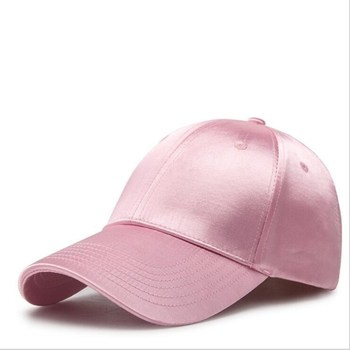 46f95416b6c8 Nueva gorra de béisbol de satén Snapback colores dulces nueva gorra de  marca de Gorras Primavera Verano Hip Hop sombrero plano casqueta gorra de  ...
