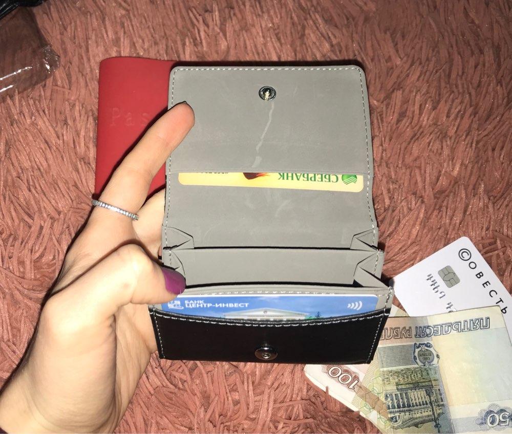 Women Men Leather Card Cash Receipt Holder Organizer Bifold Wallet Purse mini bag bolsa feminina Brief style August 1 photo review