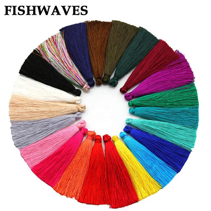 FISHWAVES 10 cái/lốc 65 mét Tua Fringe DIY Bông Tai Phụ Kiện Tua Lụa Cho Embellishments Jewelry Phát Hiện Tua New