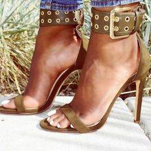 Sandals Buckle Heel Covering Open Toe Stiletto Heels