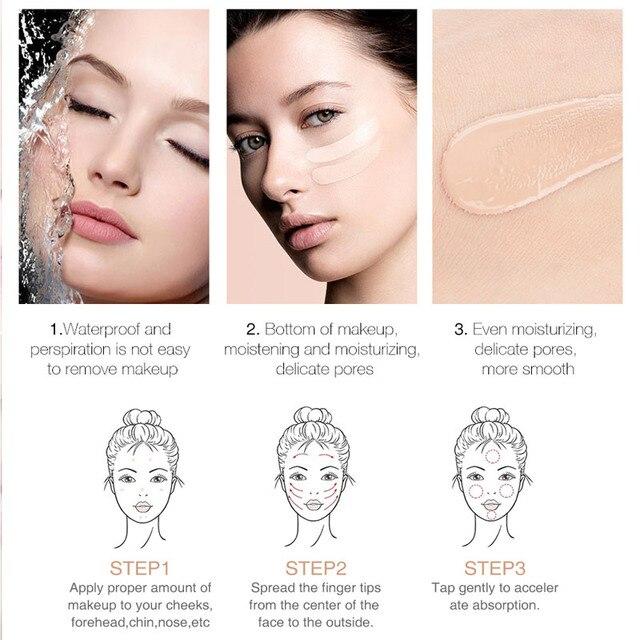 BANXEER Foundation 60ml Matte Long Lasting Full Concealer Foundation Makeup Liquid Cream Natural Base Make Up 1