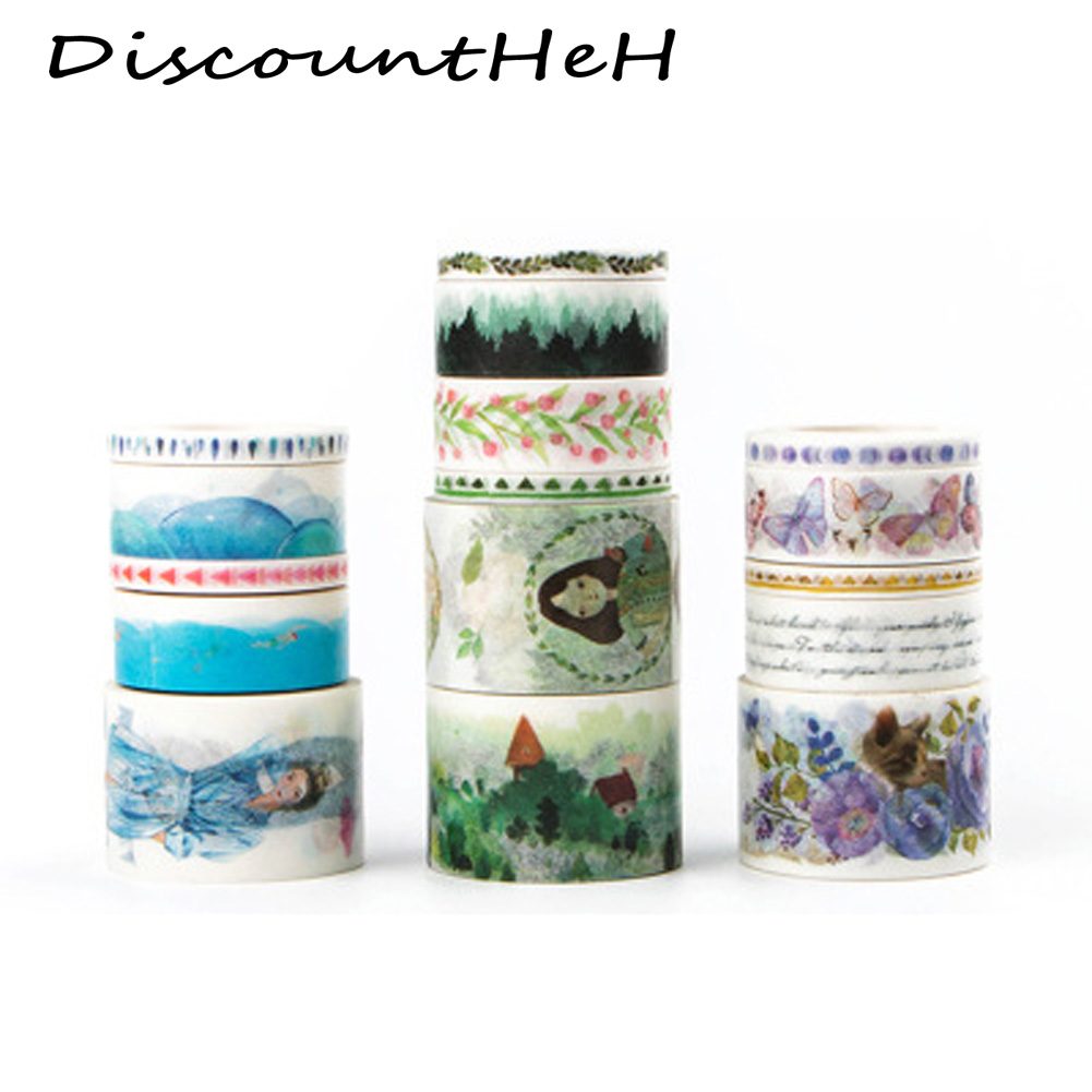 Endless Green Scenery Decorative Washi Tape DIY Scrapbooking Masking Tape School Office Supply colorful gilding hot silver alice totoro decorative washi tape diy scrapbooking masking craft tape school office supply