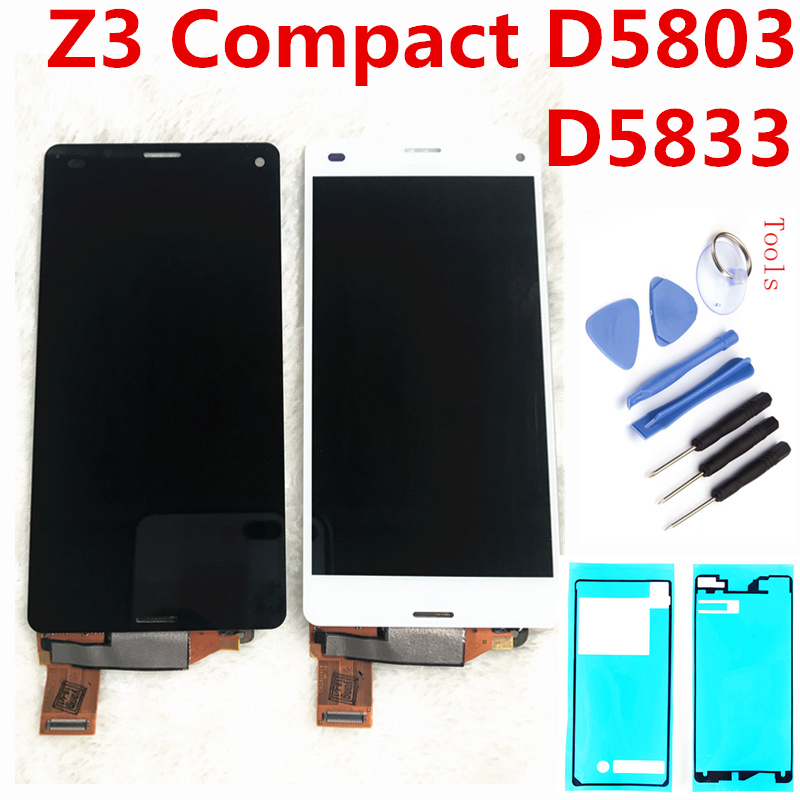 4.6 Original LCD For Sony Xperia Z3 Compact LCD Display Z3 mini LCD D5803 D5833 Touch Screen Digitizer Assembly Free Shipping