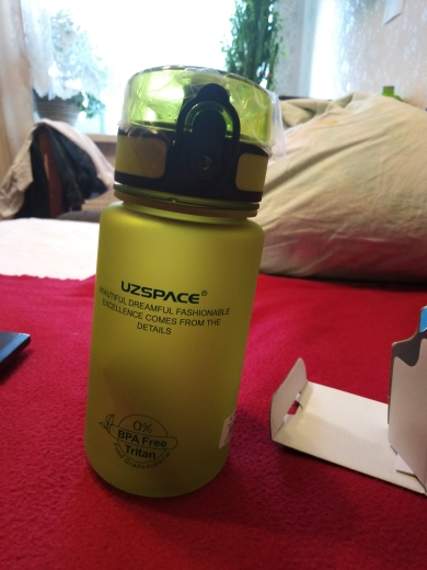 Sports Water Bottles 500/1000ml Shaker Leakproof Gourde Camping Hiking Drink Bottle for water Tritan Plastic Drinkware BPA Free-in Water Bottles from Home & Garden on AliExpress