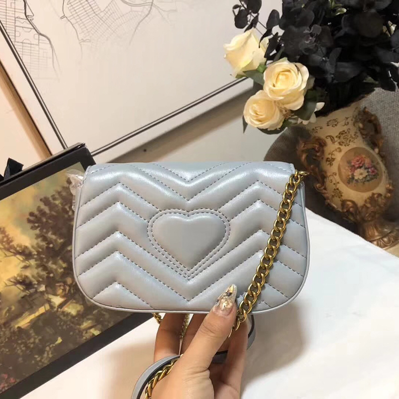 Women original leather handbags luxury designer shoulder bags Chain messenger bags mini cute fashion crossbody bag glitter sequins women pu chain handbags messenger crossbody bags party shoulder sling bags fashion girls shinning clutch bags
