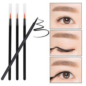 Image 3 - 100pcs Disposable Eyeliner Brushes Individual Applicator Superfine Fibre Swab Eye Liner Liquid Wand Eye Liner Professional Brush
