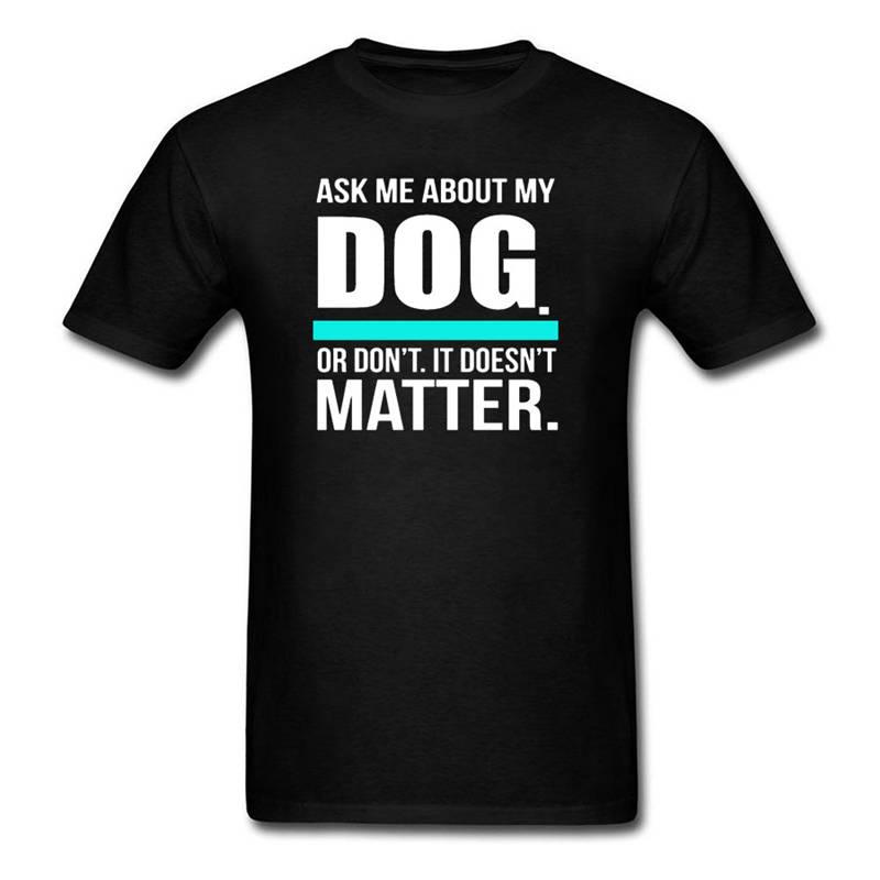 Shop Shirts Short Sleeve Zomer Crew Neck Mens Ask Me About My Dog T Shirts
