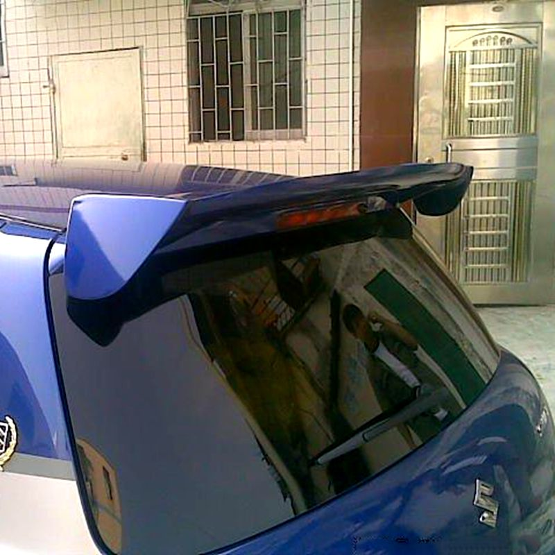 For <font><b>swift</b></font> Spoiler High Quality ABS Material Car Rear Wing <font><b>swift</b></font> Primer Color Rear Spoiler For <font><b>Suzuki</b></font> <font><b>swift</b></font> Spoiler 2007-2014 image