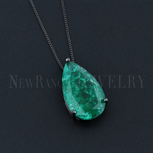 Image 4 - Newranos Water Drop Pendant Necklace Natural Crashed Stone Necklace Statement Jewelry for Women Fashion Jewelry NFX001724