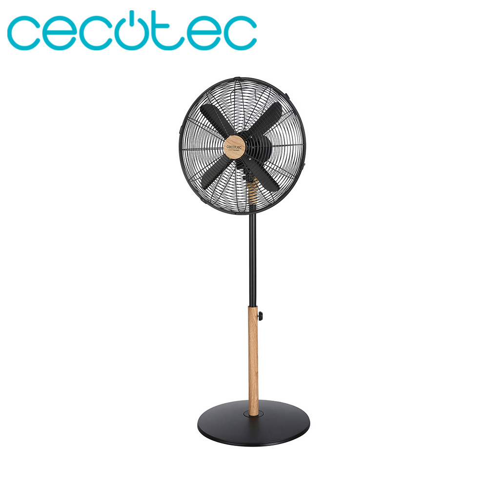 Cecotec Standing Fan ForceSilence 560 WoodStyle
