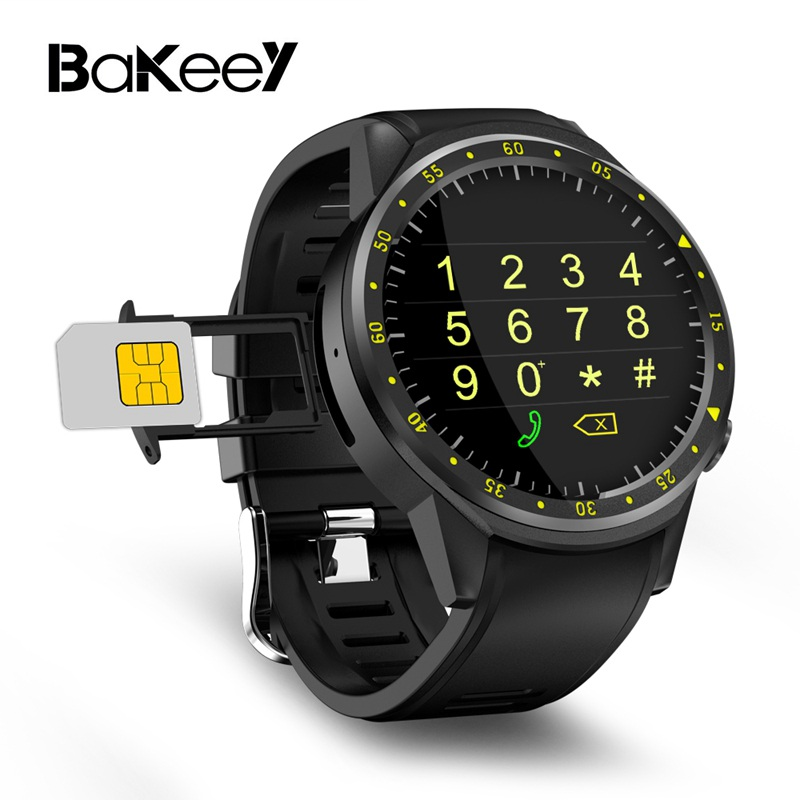 Bakeey F1 1.3inch 4G Wifi GPS 1G 8G Heart Rate Monitor Pedometer Sport Smart Watch for iphone for Android Phone microwear l1 smartwatch phone mtk2503 1 3 inch bluetooth smart watch gps heart rate measurement pedometer sleep monitor