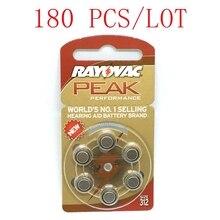 180 Pcs Batterie per Apparecchi Acustici A312 312A ZA312 312 PR41 U per BTE Apparecchi Acustici