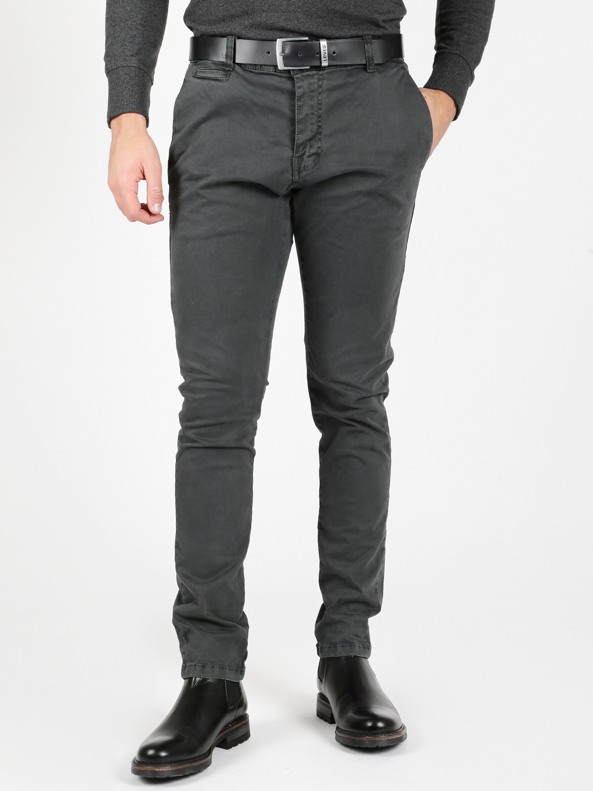 Gray Trousers Cotton