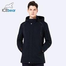ICEbear 2018 new autumn men s coat warm apparel cotton padded detachable hat brand hooded man