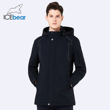 ICEbear 2018 new autumn men's coat warm apparel cotton padded detachable hat brand hooded man jacket coat  BMWC18120D