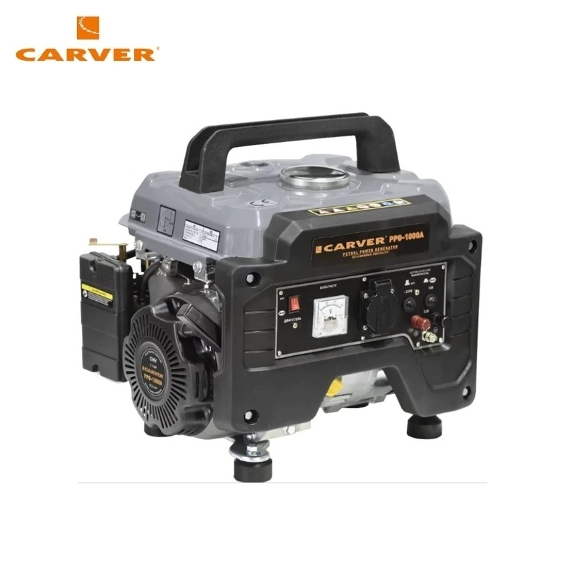 Petrol power generator CARVER PPG-1000A Power home appliances Backup source during power outages Benzine power stations стоимость