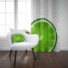 Белый пол зеленый лимон Пузыри воздуха 3d печать гостиная кухня Окно Панель набор занавес комбинированный подарок наволочка