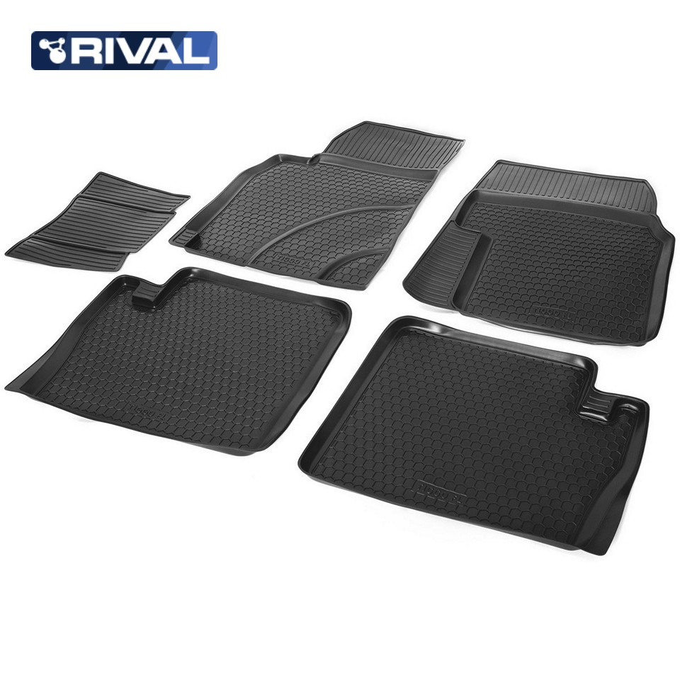 For Chery Tiggo T11 FL 2012-2016 floor mats into saloon 5 pcs/set Rival 10902001 цены онлайн
