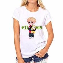 2018 Camiseta mulheres kpop bts Bangtan Meninos T-shirt JUNG KOOK JIMIN SUGA  v k pop feminino k-pop JIN Rap Monstro Camiseta Bra. f78152acb6885