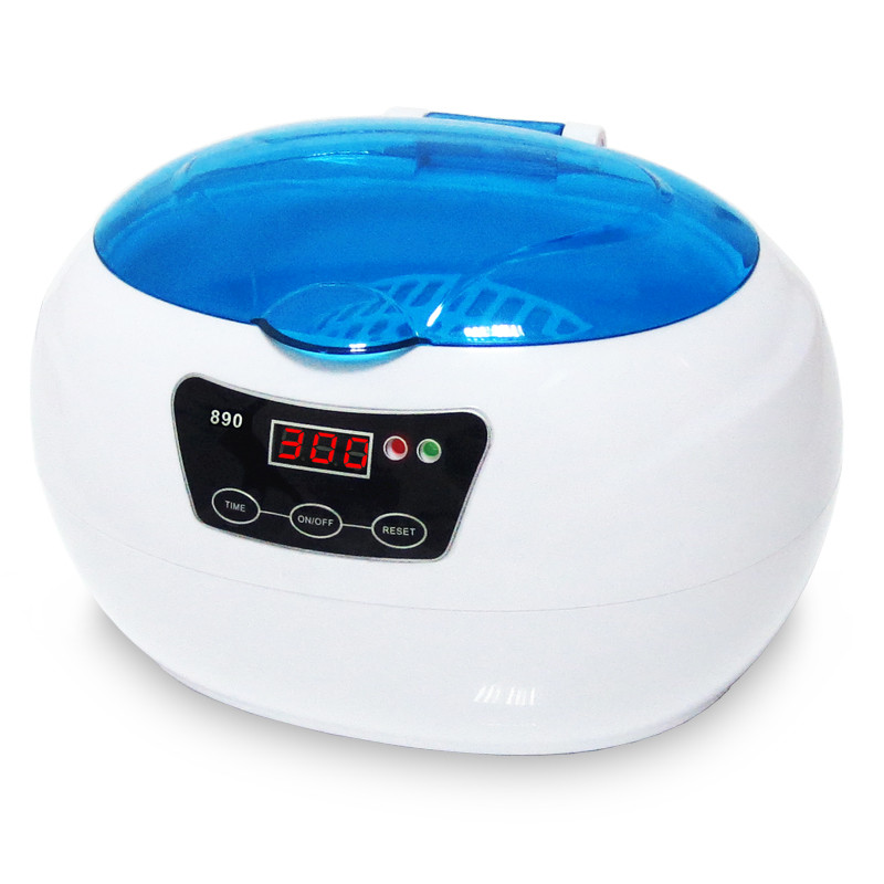 SKYMEN Digital Ultrasonic Cleaner JP-890 Wash Bath Tank Baskets Dental 0.6L 35W 42kHz Mini Portable Ultrasound Cleaning Machine