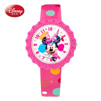 Disney Brand Original Gift Box Genuine Leather Quartz Watches Children For Girls Students Cartoon Mickey Mouse