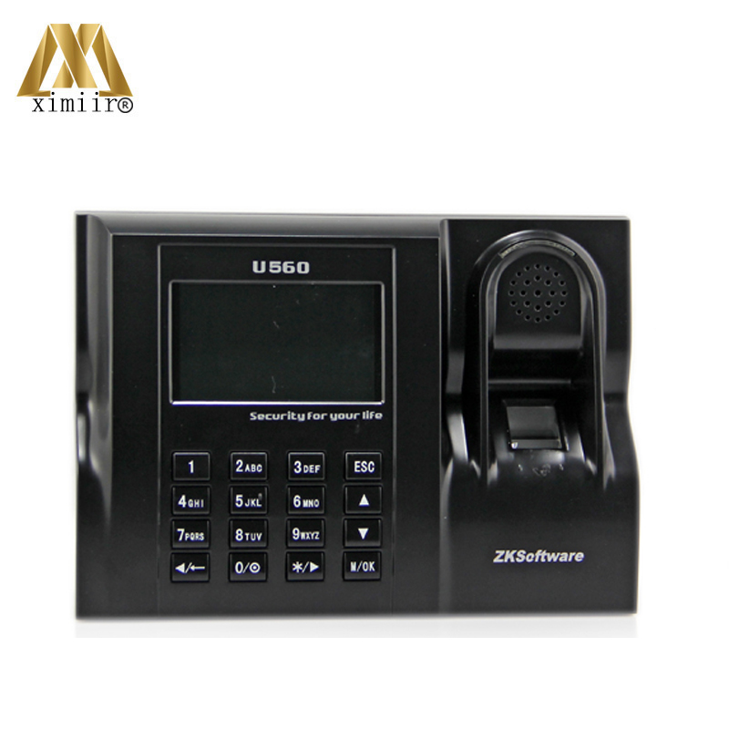 Linux System ZK U560 Biometric Fingerprint Time Attendance And Time Clock With Time Attendance Recorder Free Shipping