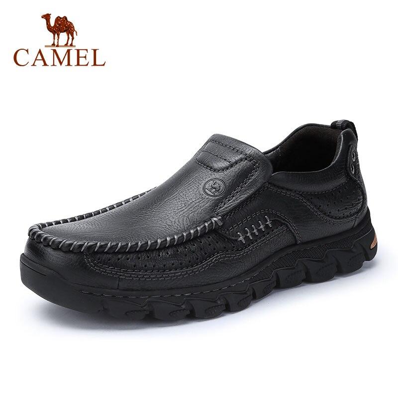 낙타 편안한 남성 신발 정품 가죽 야외 캐주얼 남성 로퍼 남성 착용 신발 mocasin hombre-에서남성용 캐주얼 신발부터 신발 의  그룹 1