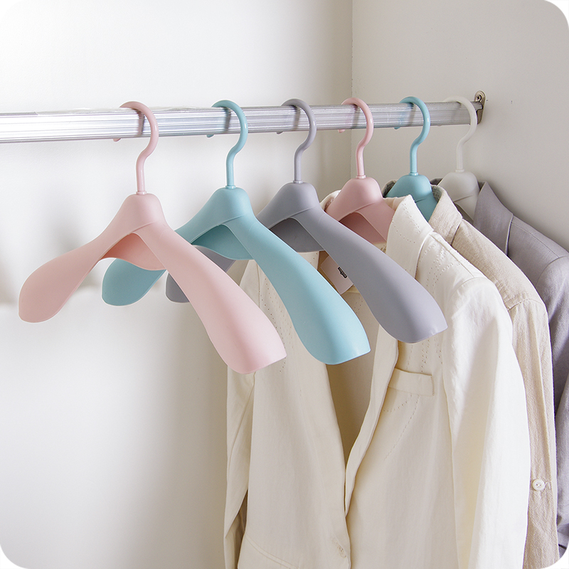 3pcs/set Man Woman Wide Shoulder Hanger Storage Coat Dress Suit Tuxedo Hangers Household Clothing Store Anti-slip Adult Hanger image