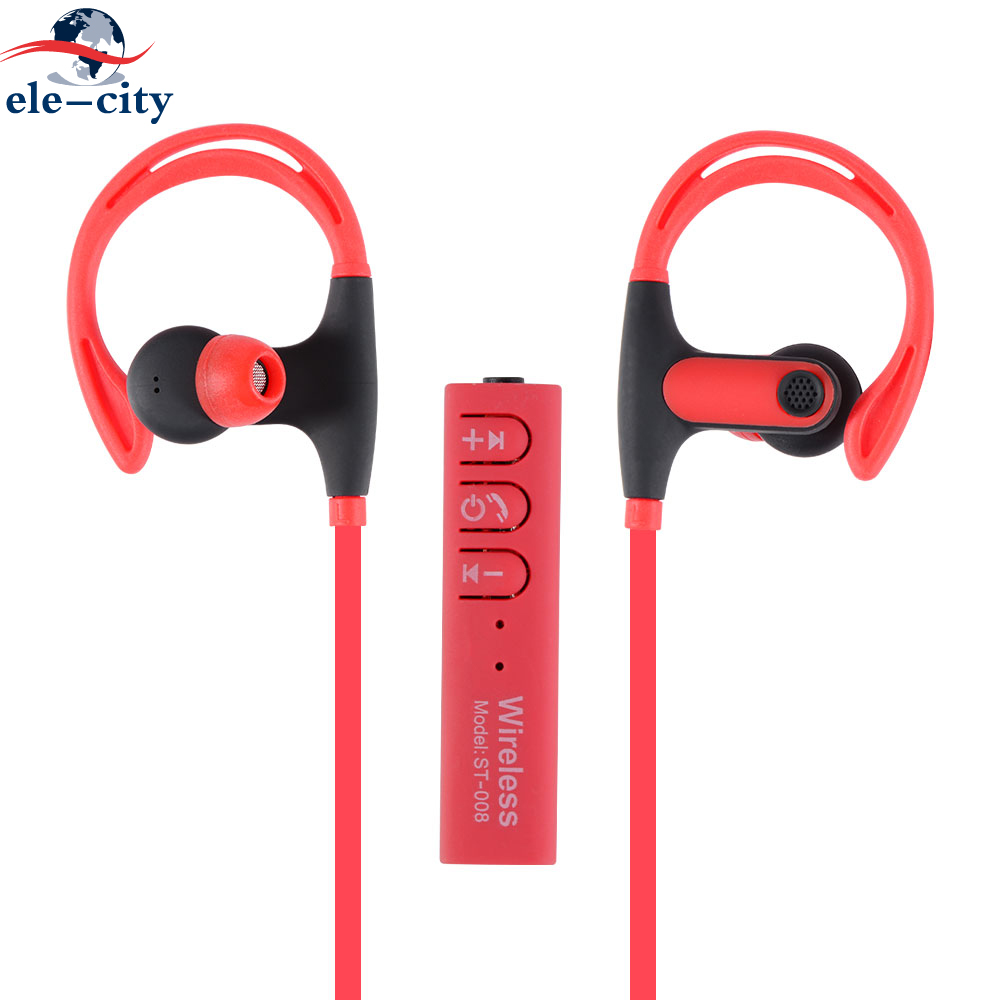 ST-008 NEW Bluetooth Earphone With Mic and Music Wireless Earphones - Portable Audio and Video