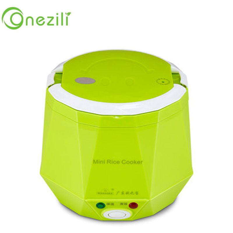 Electric Rice Cooker 12V 24V 220V for Car/Truck/Home Multi-function 3 Cups Mini Lunch Box Food Heater Steamer For 1-2 People