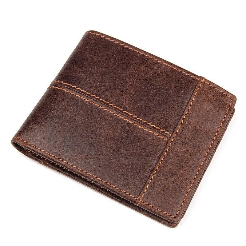 Portefeuille pour carte de crédit en cuir de vache hommes femmes ID support de carte rfid blocage Mini magique portefeuille carte porte-monnaie permis de conduire
