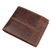 Wallet For Credit Card Cow Leather Men Women  ID Card Holder RFID Blocking Mini Magic Wallet Card Coin Purse Driving Licence цена