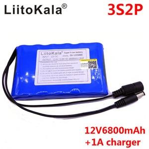 Image 4 - LiitoKala Portable Super 18650 Rechargeable Lithium Ion batterie capacité cc 12 V 6800 Mah CCTV Cam moniteur 12.6V 1A chargeur