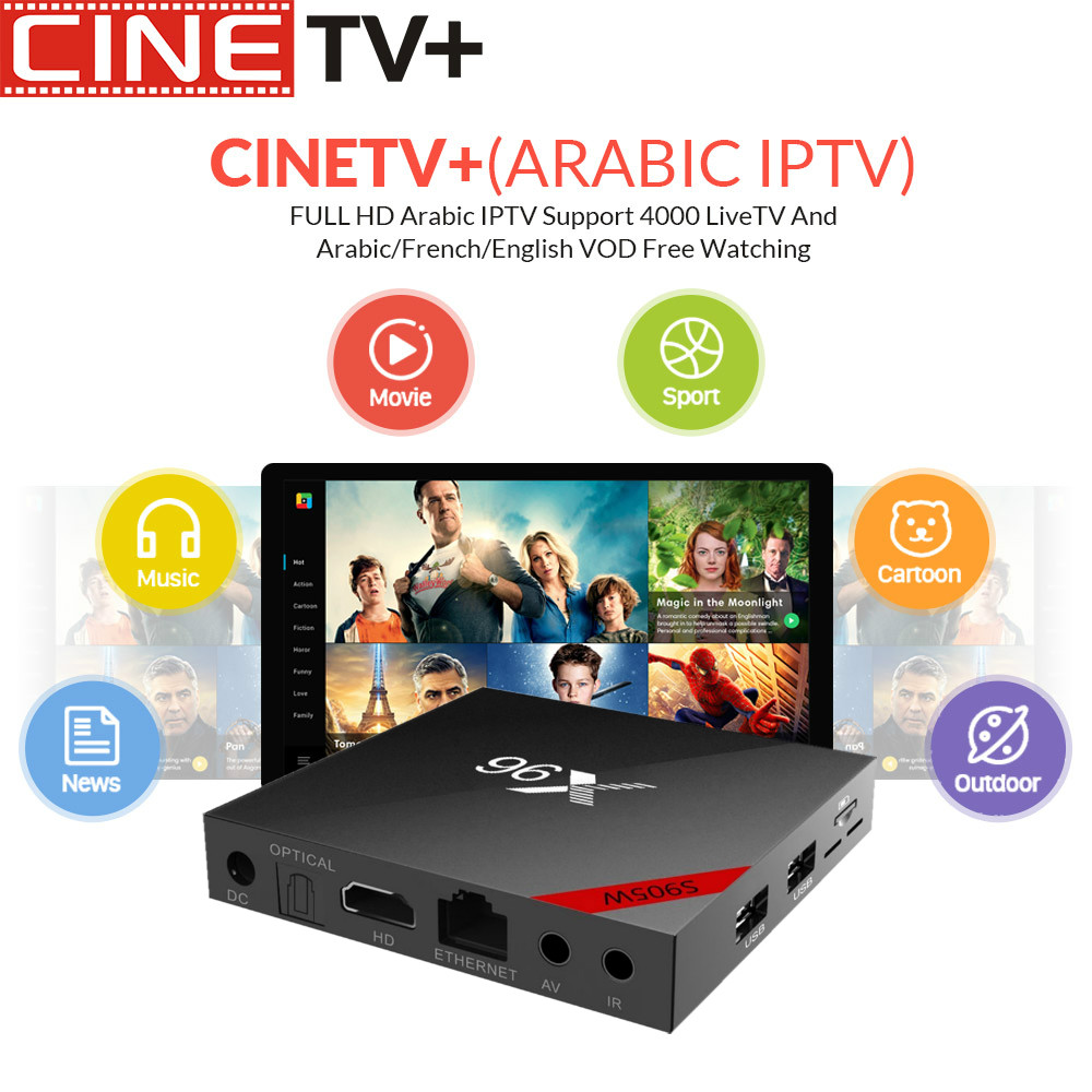 Cinetv X96W Wholesale Iptv Box With 1 Year Code For Free -6665