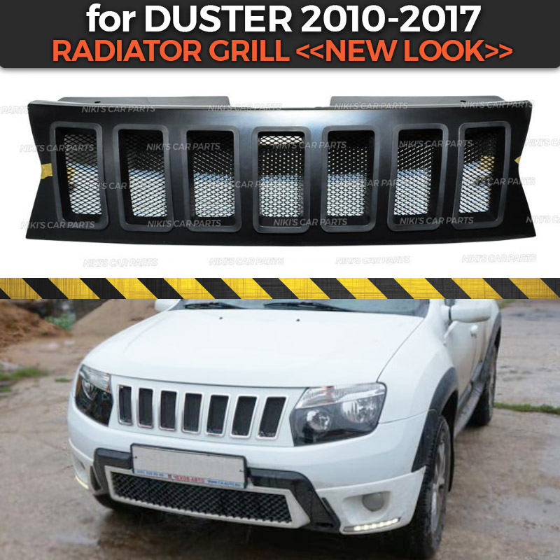 Radiator grill for Renault Dacia Duster 2010 2017 new look styl ABS plastic body kit aerodynamic