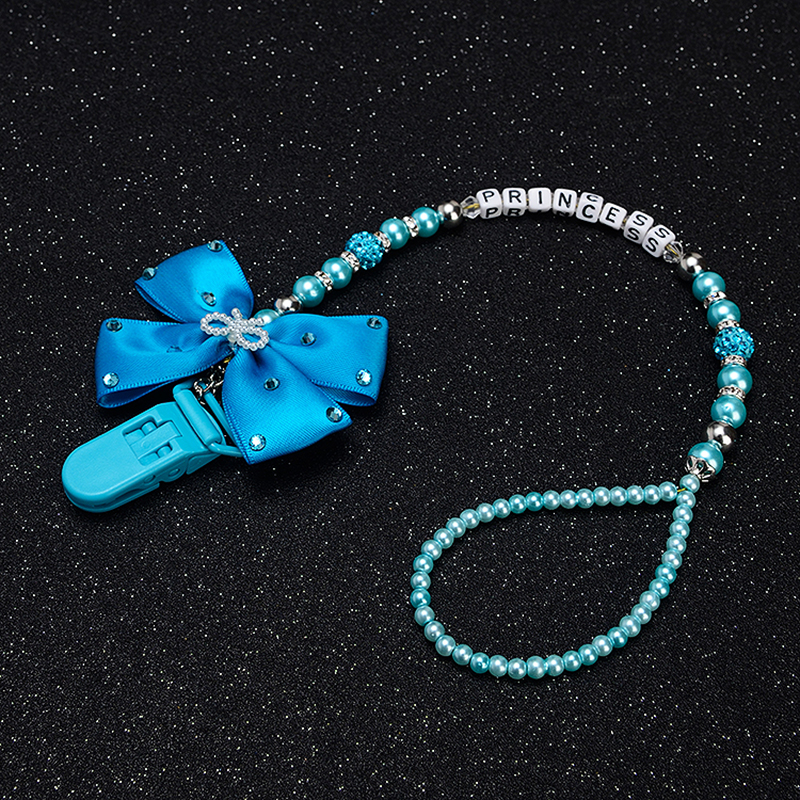 Купить с кэшбэком Personalised-any name set stunning blue bling pram charm/stroller toy Rattles bed toy rattle pacifier clip holder dummy clip
