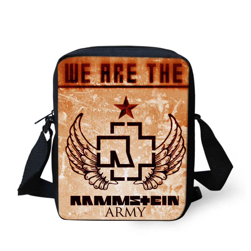Band Rammstein Printing Shoulder Men Bag Messenger Handbag for Women Cross Body Sac a Main Children School Bags Satchel Mujer (10)