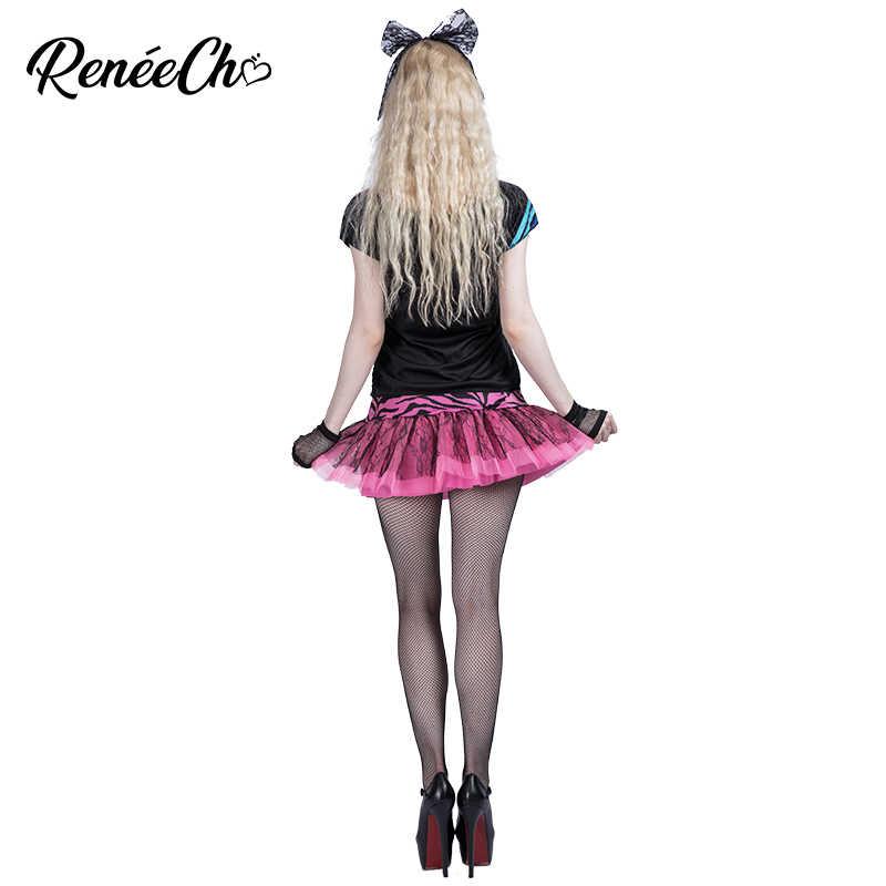 Costume di Halloween Per Le Donne di Età 80 s Pop Del Partito Del Costume di Fantasia fantastico Vestito da ballo per adulti costume di cosplay per il partito di musica