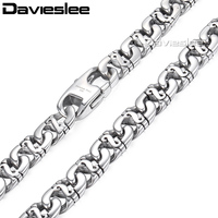 CUSTOMIZE SIZE 9 5MM 316L Stainless Steel Necklace Biker Link Chain Wholesale Top Quality Mens Boys