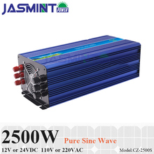2500W Off Grid Solar Inverter or Wind Inverter, Surge Power 5000W 12V/24VDC 110VAC or 220VAC Pure Sine Wave Inverter
