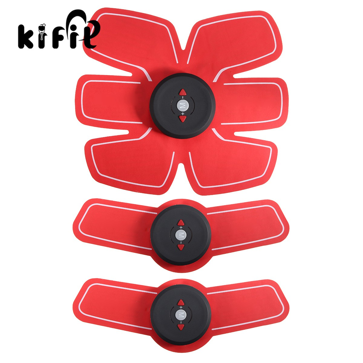 Kifit Electric Weight Loss Slimming Massager Muscle Training Gear Device Training Abdominal Arm Muscles Intensive Body Exercise 2017 hot sale mini electric massager digital pulse therapy muscle full body massager silver