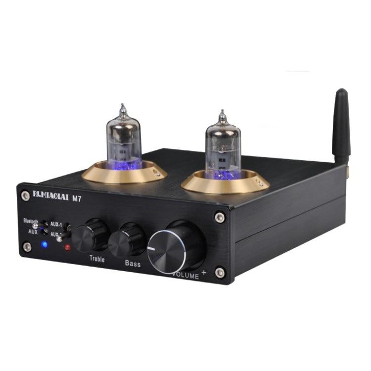 New M7 HiF Tube Wireless Bluetooth 5.0 Audio Receiver 6J1 Tube Preamplifier ESS9023 Bluetooth Decoder стоимость