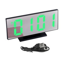 Multi-function despertor digtital led Alarm clock Mirror display desktop Time USB Power-off memory snooze