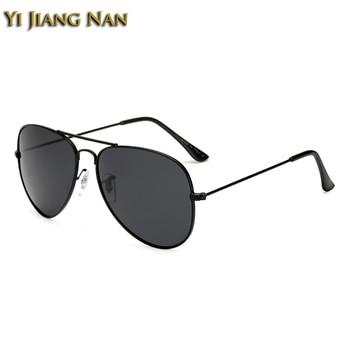 Yi Jiang Nan Brand 2018 New Fashion Aviator Full Rim Alloy Frame Sunglasses Men Polarized UV400 Gafas de Sol de Los Hombres