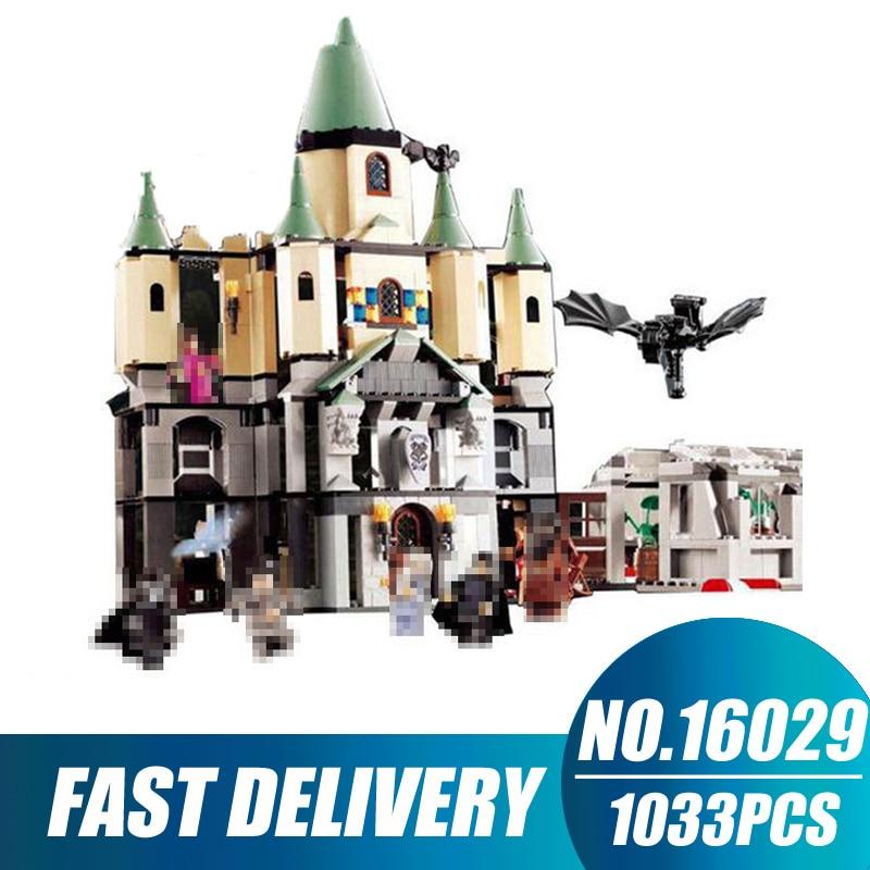 Compatible Legoe Movie Series 5378 Lepin 16029 1033pcs magic Hogwort Castle Model building blocks bricks toys for children hc9009 1650pcs pikachu cartoon movie series without original box building blocks diamond bricks toys compatible with loz