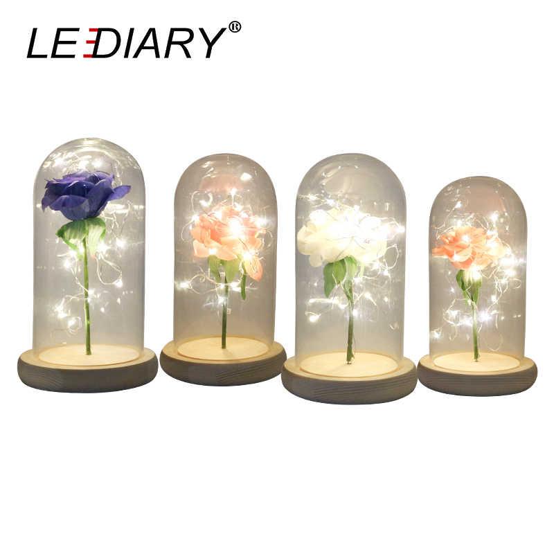 Светодиодный IARY 1 шт. розовое стекло бутылочки светодиодный ночник 20 см Высота украшения прикроватная настольная лампа украшение дома осветительные приборы