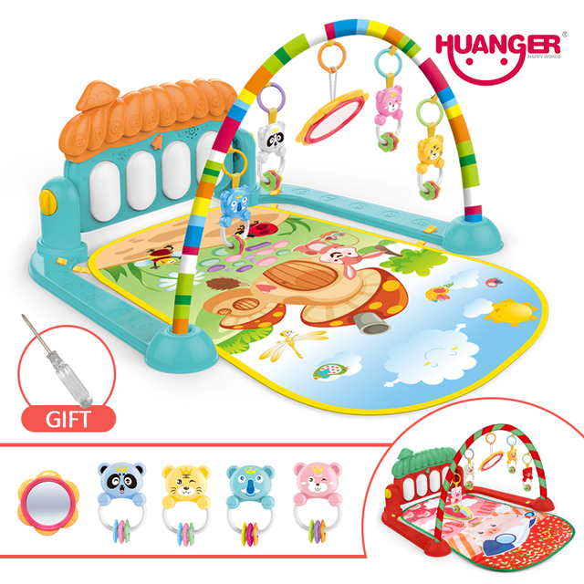 Dropship baby mat carpet musical activity gym puzzle childrens tapete infantile Soft pad floor game creeping developmental toy