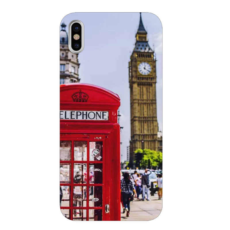 london flag bus telephone Phone Cases cover for Apple iPhone 7 8 Plus 6 6S Plus SE 5S X XR XS MAX Soft Silicone cover case